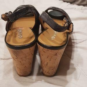 Coach Shoes - Coach wedges (sz 7.5)